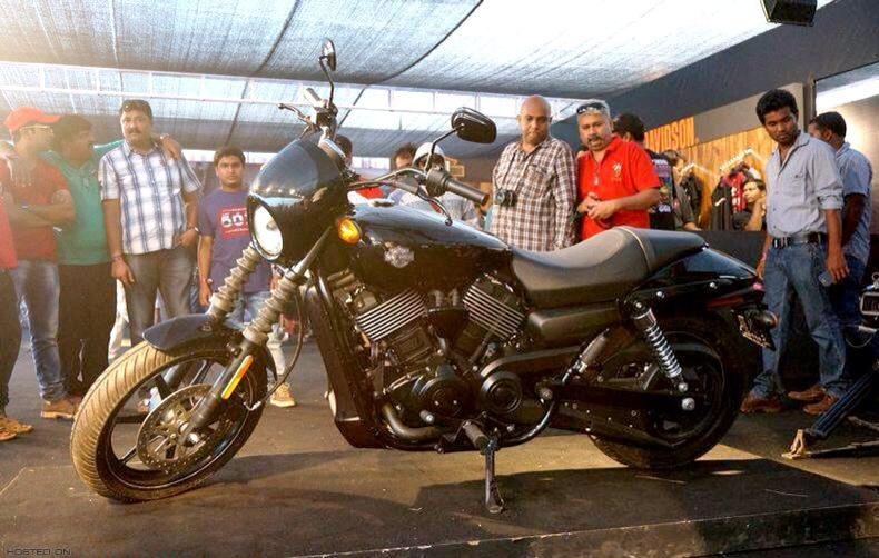 Harley-Davidsons nye Street 750 model ved lanceringen i Indien tidligere i år.